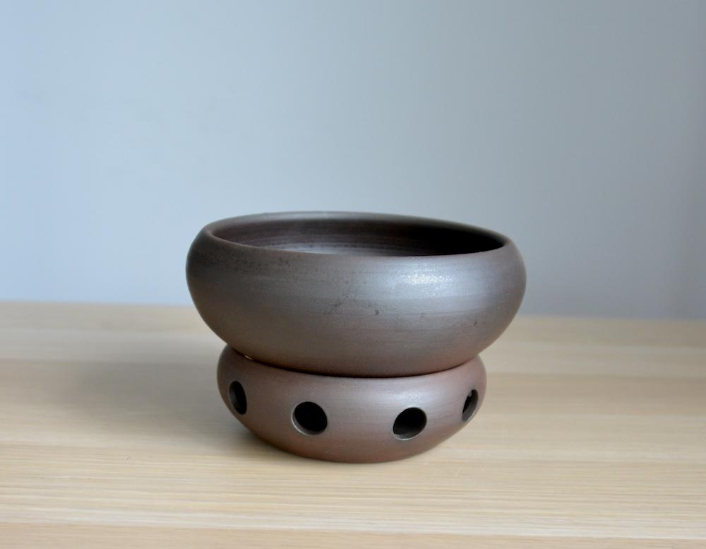 Глиняная тарелка для хаша с подогревом